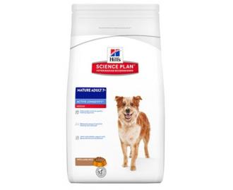 Hills Mature Adult 7+ Active Longevity mittelgrosse Rassen Lamm und Reis Science Plan Trockenfutter für Hunde