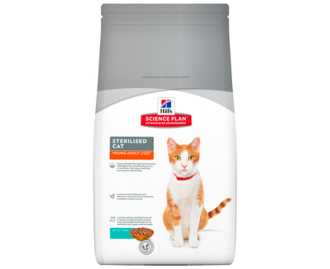 Hills Young Adult Sterilized Cat mit Thunfisch Science Plan Trockenfutter für Katzen