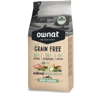 Optima Ownat Just Grain Free pienso para perros adultos Pollo