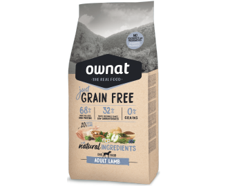 Optima Ownat Just Grain Free pienso para perros adultos Cordero