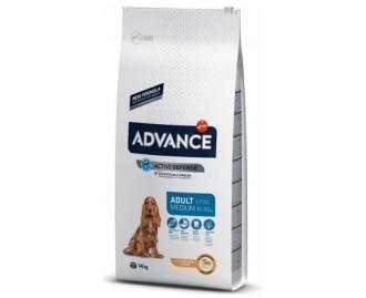 Advance Medium Adult Huhn und Reis Trockenfutter für ausgewachsene Hunde mittelgrosser Rassen