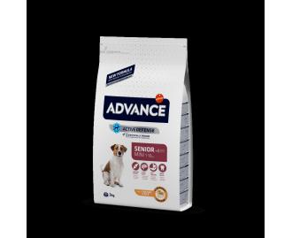 Advance Senior Small Huhn und Reis 3kg Trockenfutter für ältere Hunde kleiner Rassen