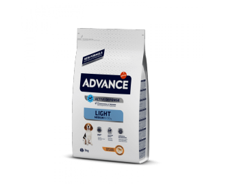 Advance Light Medium Hun und Reis Trockenfutter für Hunde mittelgrosse Rassen