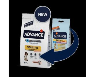 Advance Sensitive Lachs und Reis Trockenfutter für Hunde