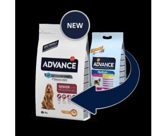 Advance Senior Medium Huhn und Reis Trockenfutter für ältere Hunde mittelgrosser Rassen