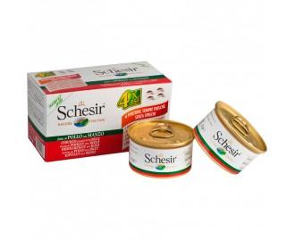 Schesir Nassfutter für Hunde Multipack 4x85gr [4 Sorten]