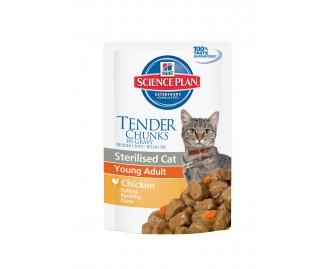Hill's SP Nassfutter Katzen· Adult Sterilised Beutel mit Huhn