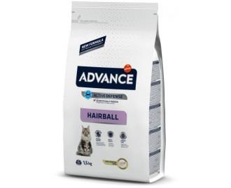 Advance Hairball Truthahn und Reis Trockenfutter für Katzen