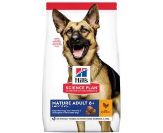 Hills Mature Adult 5+ Active Longevity Grosse Rassen mit Huhn 12 kg. Science Plan Trockenfutter für Hunde