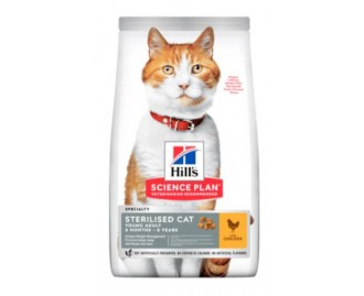 Hills Young Adult Sterilized Cat mit Huhn Science Plan Trockenfutter für Katzen