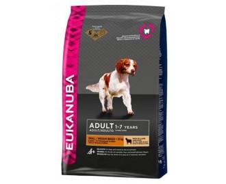 Eukanuba Adult Lamm & Reis Trockenfutter für erwachsene Hunde kleine und mittelgrosse Rassen