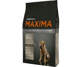 Maxima Medium Lamm & Reis Trockenfutter für Hunde