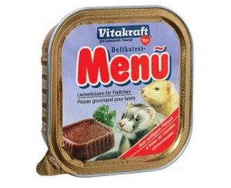 Vitakraft Menù Delikatess Futtermittel nass für Frettchen