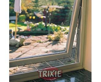 Metallnetz fürs Fenster 62x16 / 8cm weiss TRIXIE Sicherheit für Katzen im Haushalt
