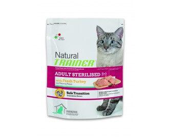 Trainer Trockenfutter für sterilisierte Katzen mit frischem Fleisch